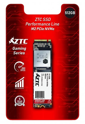 ZTC 512GB M.2 NVMe PCIe 80mm SSD Astounding Performance and High-Endurance Great Upgrade for Gaming Model ZTC-PCIEG3-512G