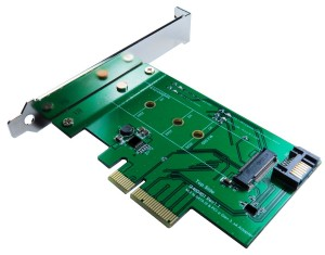 ZTC Lightning Card M.2 NGFF SSD (PCIe 2 and 4 Lane or SATA III Type) To PCI-e or SATA III Internal Card. UP To 1.6GB/s on the 4 Lane PCIe Model ZTC-EX001